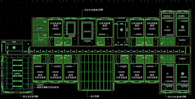 CAD套房平面图