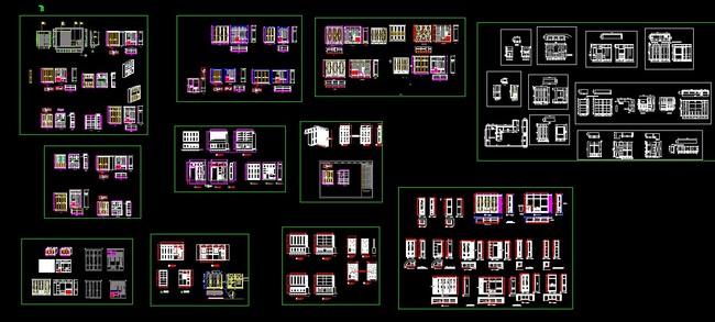 衣帽间设计图 柜门 厨柜 酒柜 岛台 书柜 雕花柜门 家装衣柜 室内设计