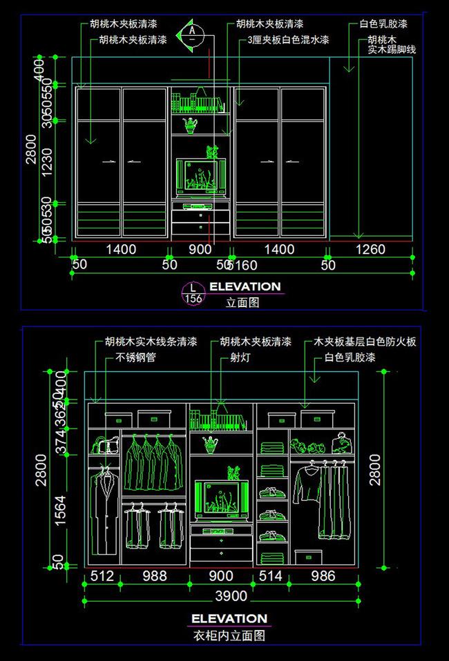 主卧室衣柜CAD图