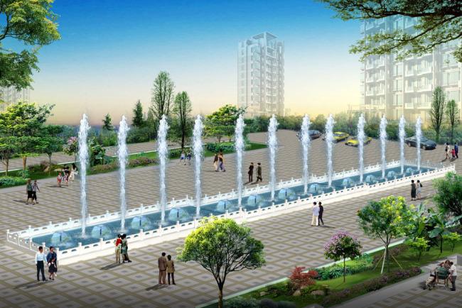 园林厂广场效果图 - bing images