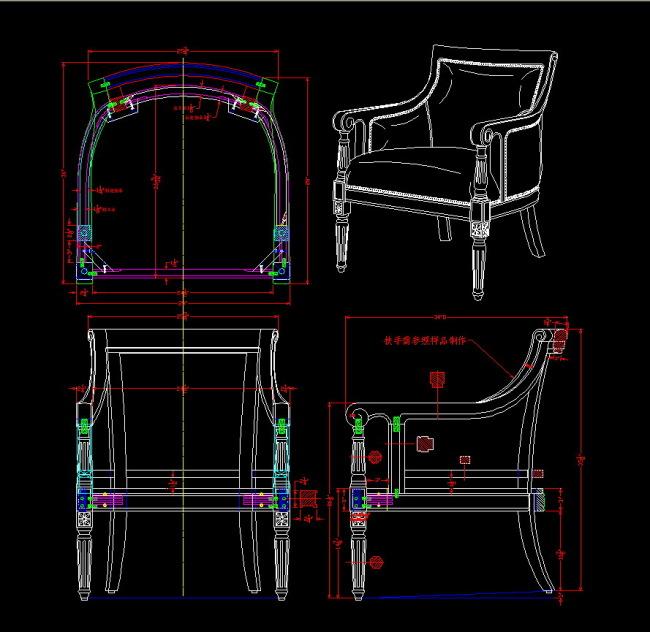 家具cad图纸 家具cad三视图 家具设计cad 家具设计 现代家具cad 欧式
