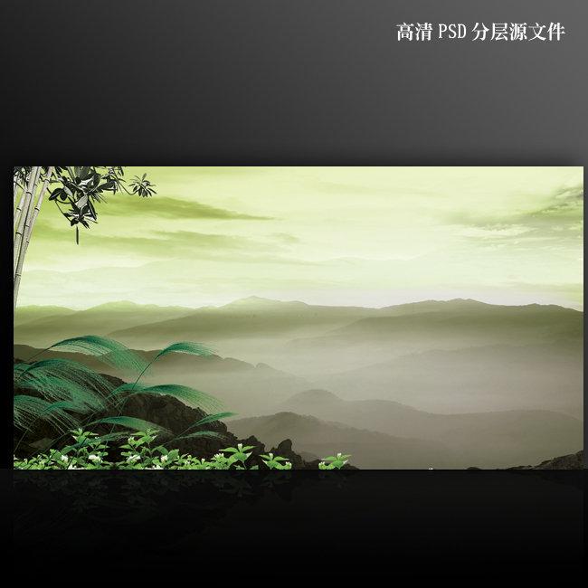 【psd】高清大氣中國風psd海報背景