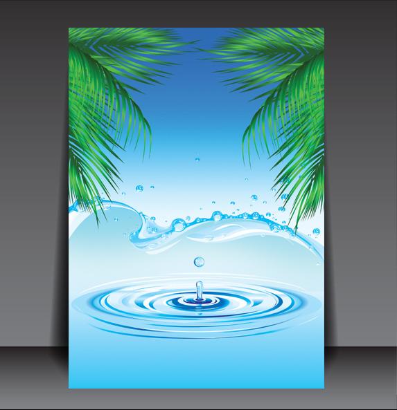 > 清凉一夏水海报背景  创意海报 宣传海报 背景图 展板背景 底图