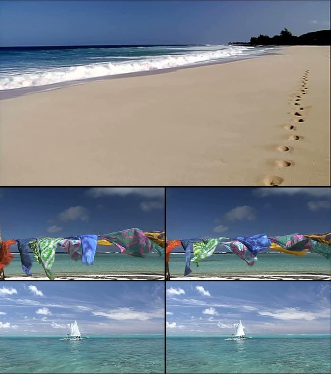 原创专区 视频素材|片头片尾 动态视频素材 > 高清海岸沙滩帆船风景视
