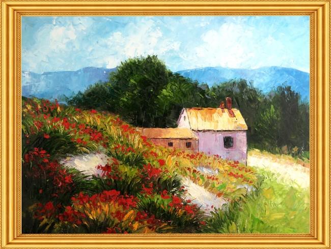 田园风格 田园 水彩画 山水画 油画 油画风景 欧式风景 说明:地中海地