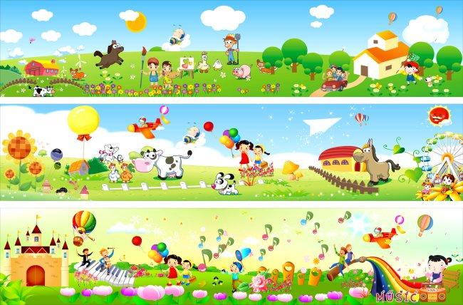 儿童 卡通 壁画 成长乐园 月亮 幼儿园大门设计 广告设计 户外广告