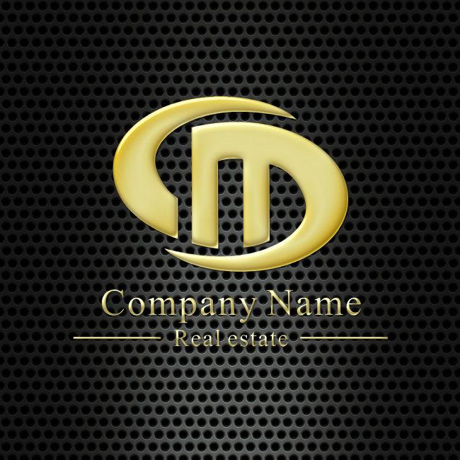 【cdr】字母組合標志設計模板下載