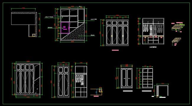 【】板式衣柜设计图纸