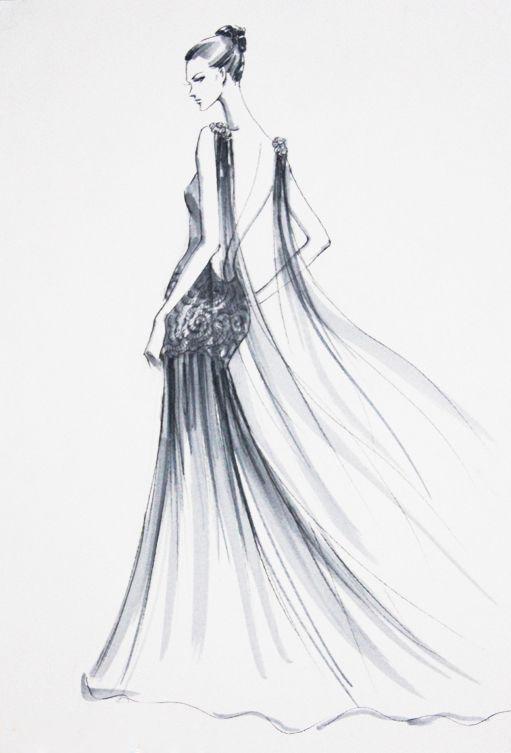 服装线描人体_服装手绘人体线描稿_第14页_手绘