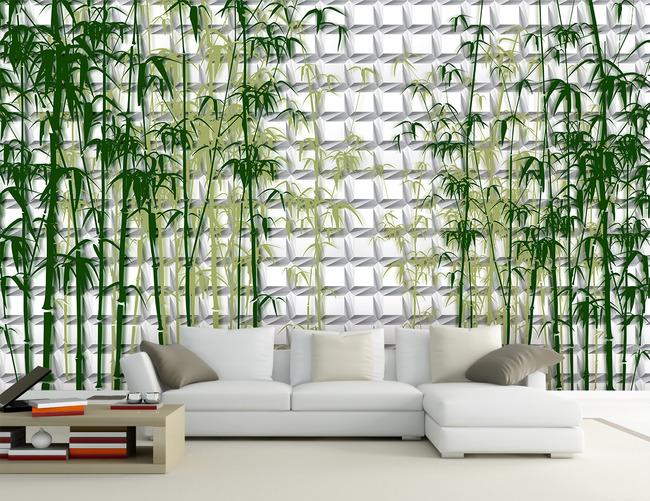 手绘墙 墙体艺术 淡雅 高雅 简约 电视背景墙图片 墙绘 说明:3d竹林