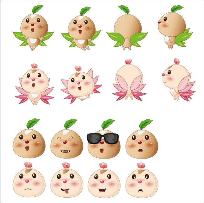 关键词: 桃子 栗子 土豆 人参娃娃 卡通吉祥物 动物 可爱卡通 吉祥物