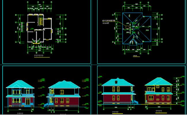 别墅设计图下载CAD全套施工图
