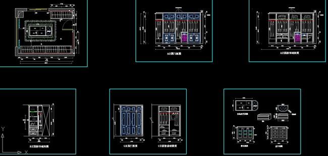 cad衣帽间设计图纸  关键词: 实木衣柜 板式衣柜 组装衣柜 衣柜门 岛