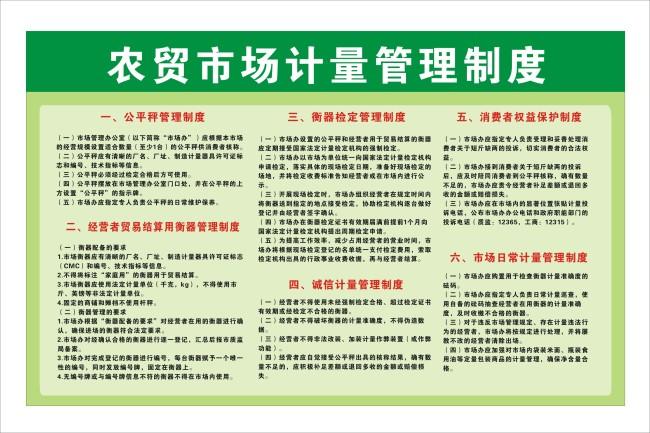 主页 原创专区 展板设计模板|x展架 制度展板设计 > 农贸市场计量管理