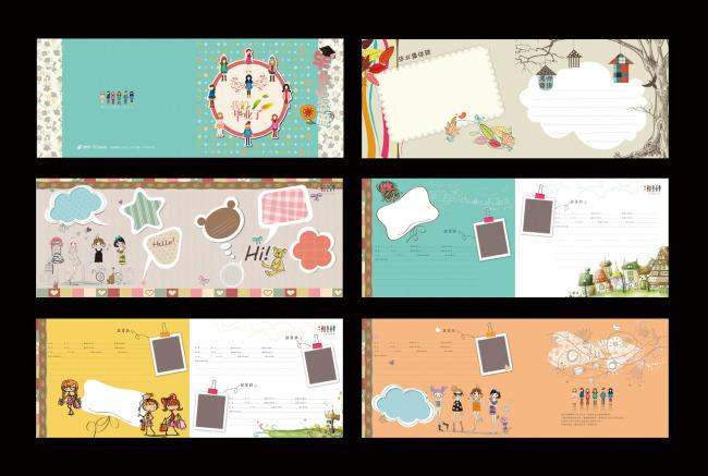 原创专区 画册设计|版式|菜谱模板 教育画册设计(整套) > 毕业纪念册