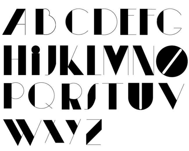 【ai】字体设计字母表印刷字体模板字体素材
