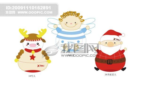 【ai】可爱的圣诞鹿圣诞雪人圣诞老人