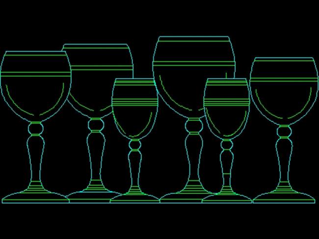 cad装修素材 室内设计 立面图 剖面图 源文件 说明:杯子艺术品cad图纸