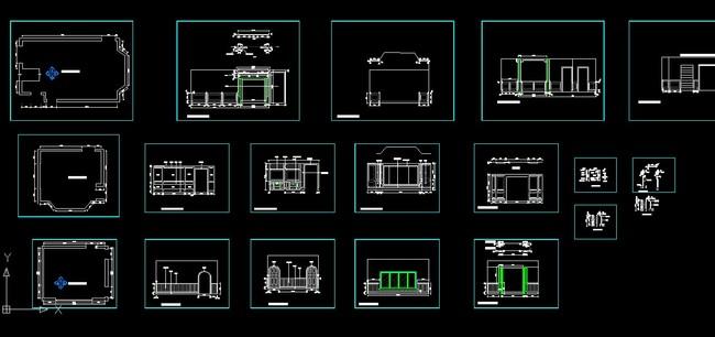 家具设计 室内设计 罗马柱 高端家具设计图纸 说明:cad整木家装图纸2