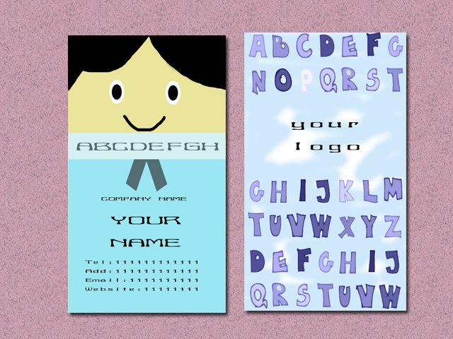 学生英文名片模板,小学生英语名片,小学生英语小报模板_大山谷图库