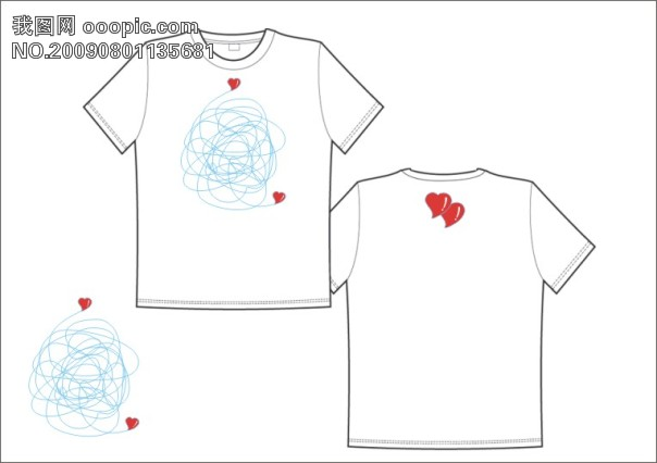 原创专区 插画|素材|元素 服装插画 > t恤  关键词: 花纹 图案 t恤 服