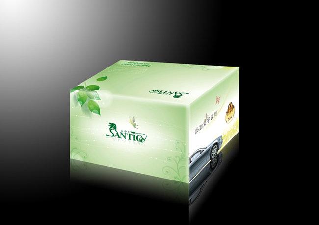 香水盒设计展开图