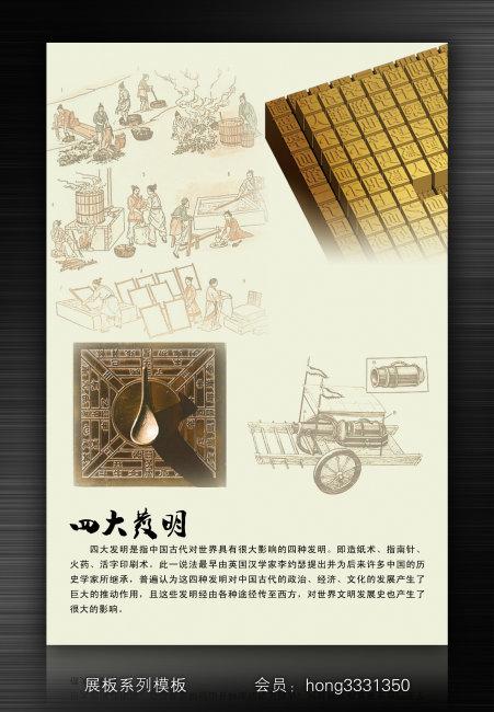 【psd】中国古代四大发明