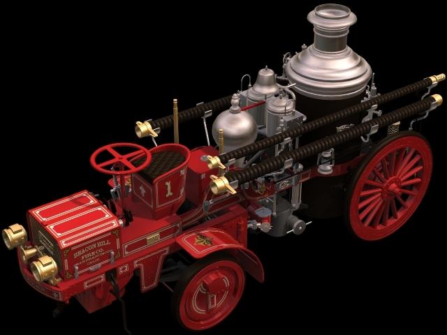 【max】火车头模型 蒸汽机车