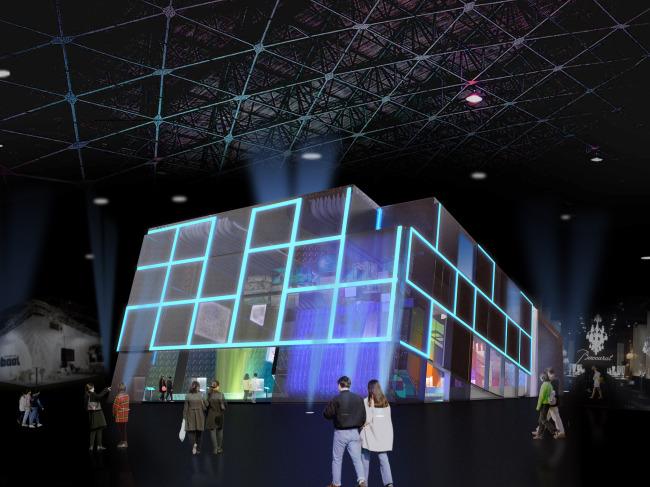【max】城市魔方幻觉展馆设计图片
