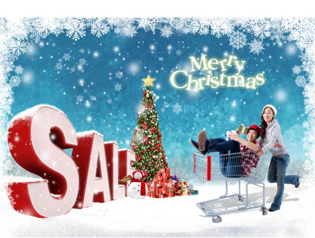 关键词: 圣诞商业促销海报 圣诞节购物情 侣雪花边框 圣诞节广告
