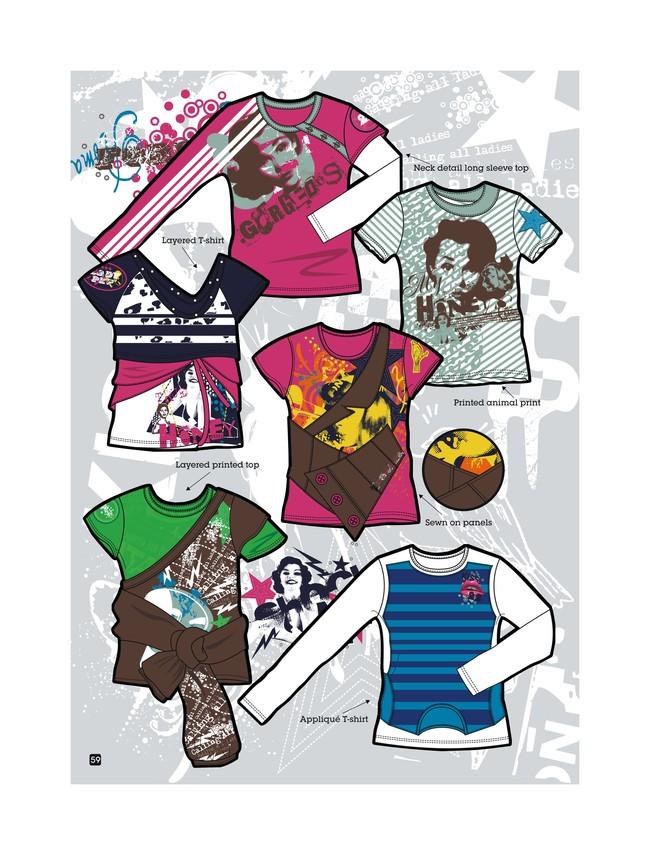服装手绘效果图 服装手绘图 服装手绘款式图 服装设计 矢量服装手绘