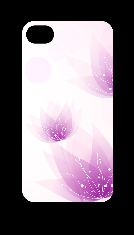 【】淡雅梦幻花卉花纹手机壳设计