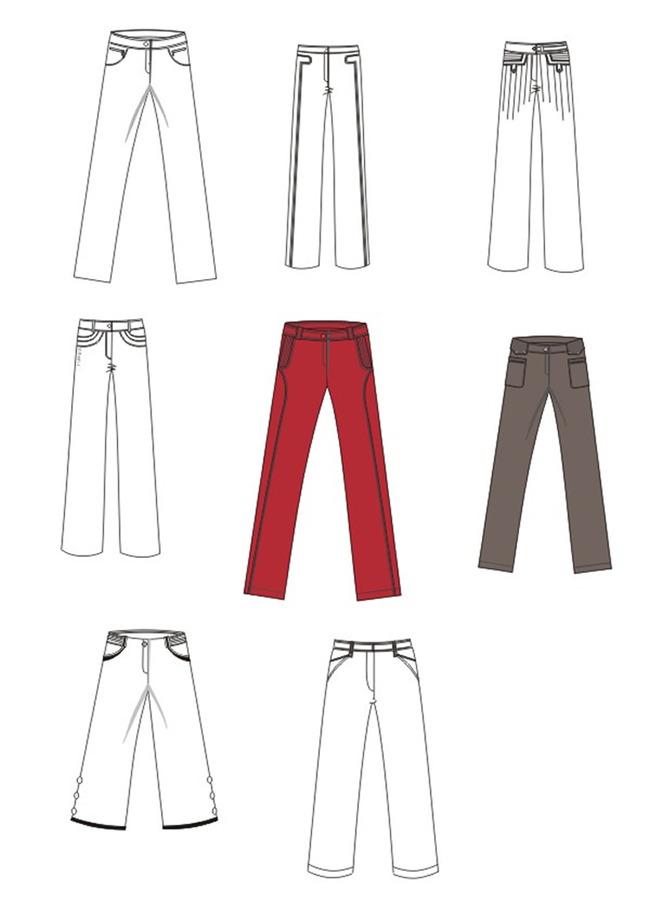 【cdr】服装手绘稿设计