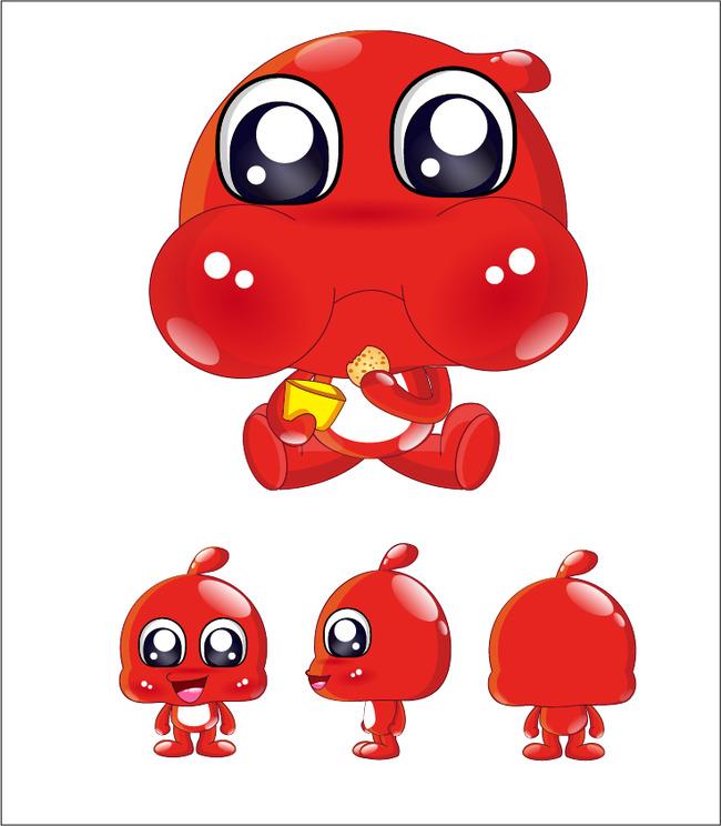 红色小人 可爱