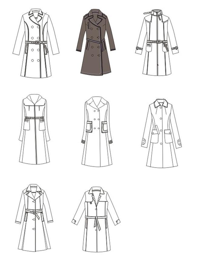 【cdr】服装手稿设计