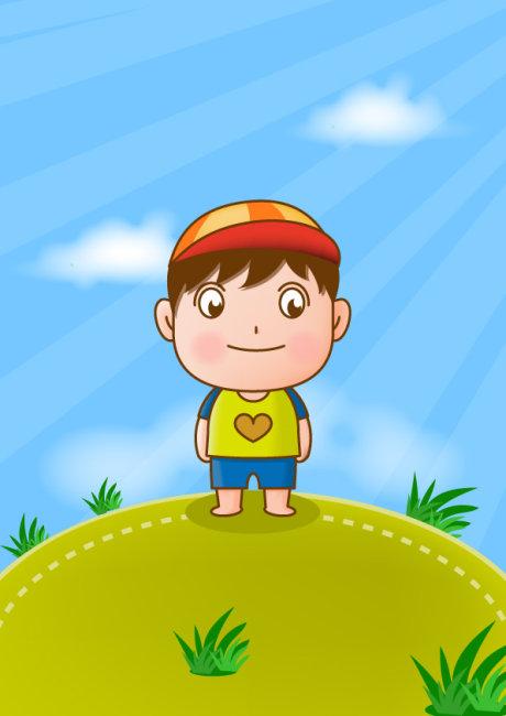 【eps】幼儿园小学卡通人物矢量图