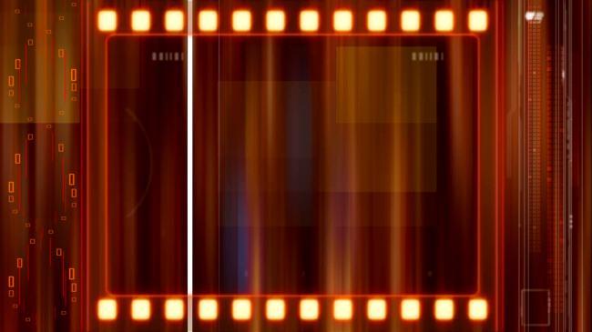 【mov】红色电影胶卷倒计时视频素材