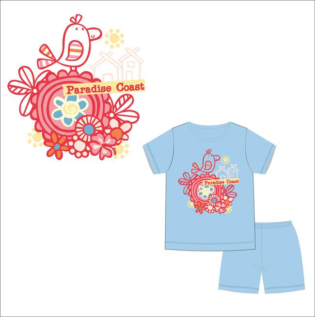 儿童服装花纹图案设计