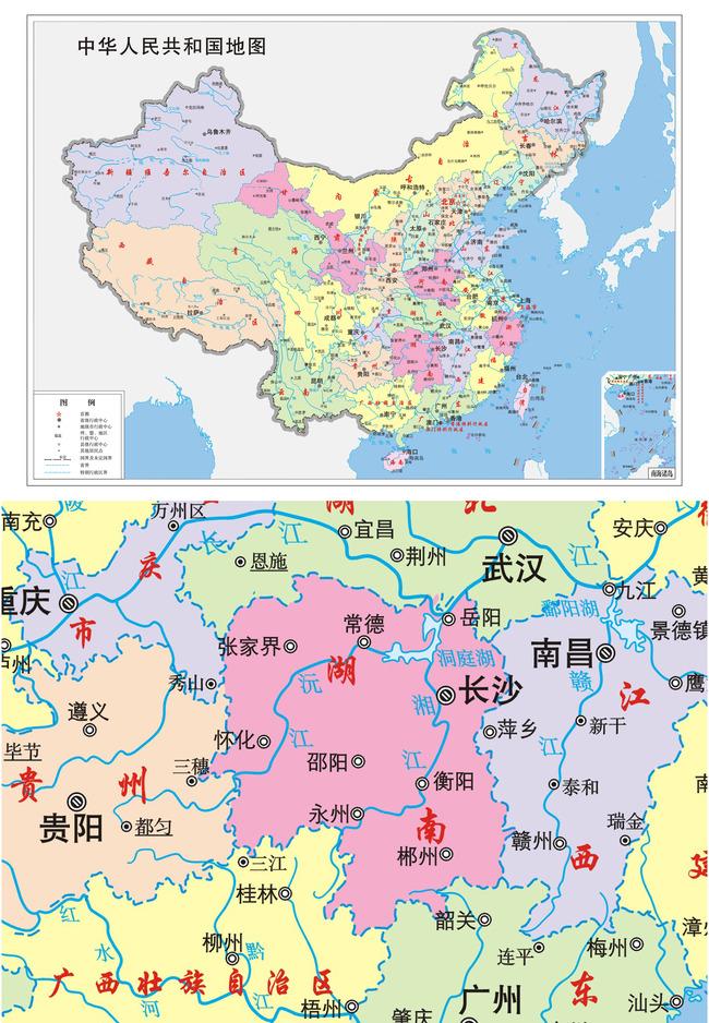 【】中国地图设计