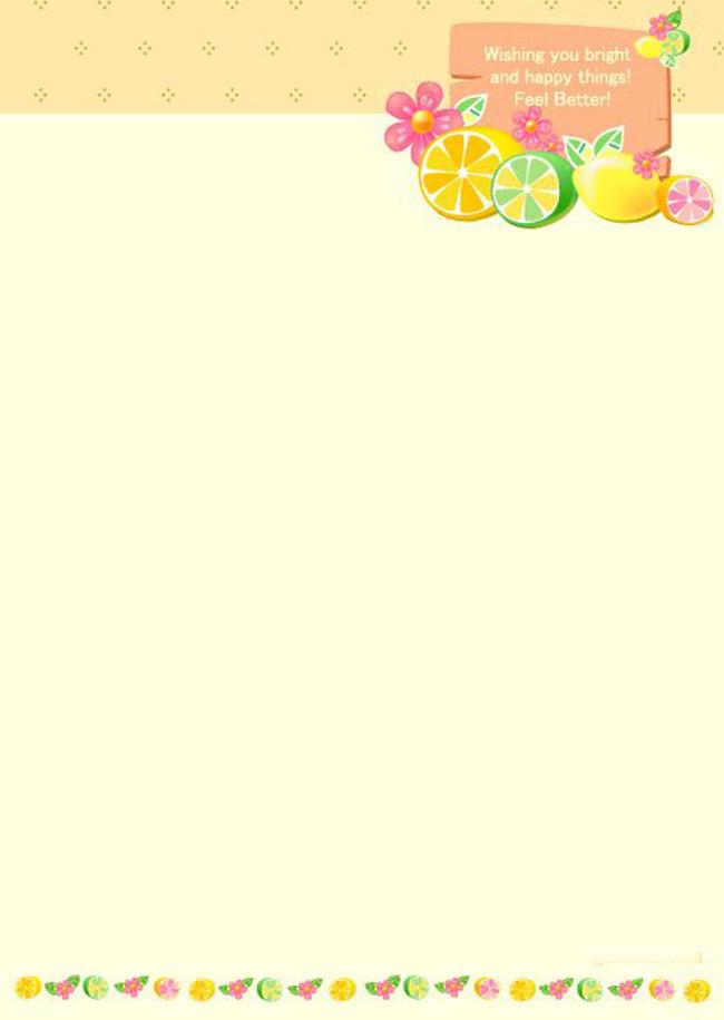 > 抽象信纸背景  关键词: 信纸背景 抽象信纸背景 抽象水果 手绘 水果