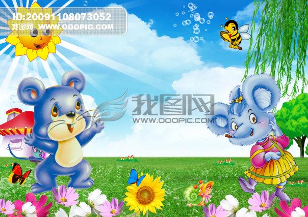 原创专区 全家福|婚纱模板|相册 儿童模板-男宝宝 > 可爱卡通老鼠儿童