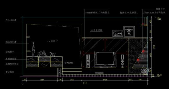 背景墙尺寸设计图纸