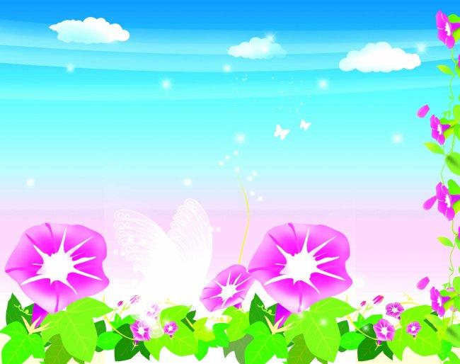 关键词: 风景画 花 云朵 春夏气息 春夏风景 装饰画 装饰画素材 设计