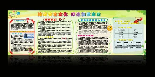 企业安全宣传栏囹�a_【cdr】建设安全文化打造和谐企业宣传栏
