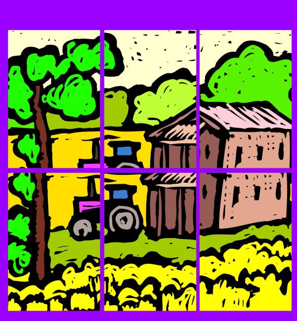 儿童房间装饰 儿童房间装饰画 马赛克 马赛克装饰画 说明:水粉画装饰