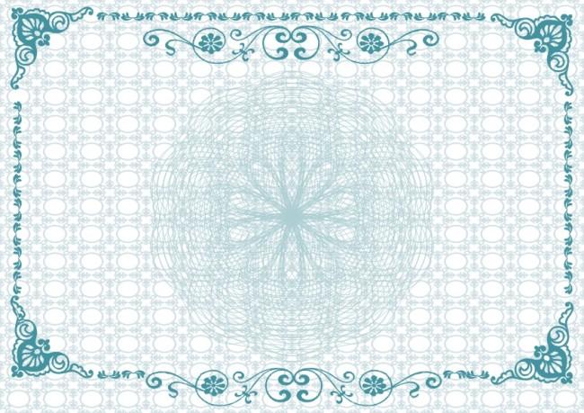 兰色 青蓝色 边框 花框 花边框 花边纹 说明:荣誉证书-宝蓝底纹