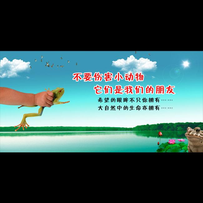 【psd】校园爱护动物公益海报