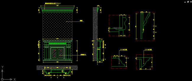 家具图 剖面图 整木定制 家具设计 室内设计 说明:欧式别墅客厅壁炉