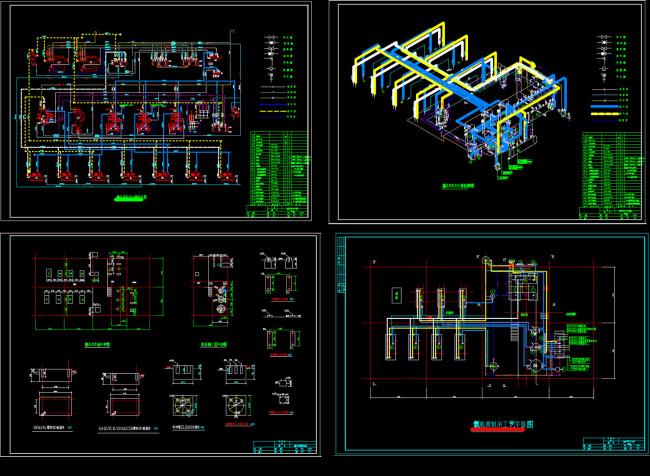 素材 氨机房 基础平面图 机房制冷 工艺平面图 说明:2500t冷库设计
