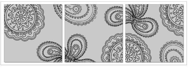 黑白 彩色 树木 树林 线条 直线 说明:矢量无框画(抽象花)